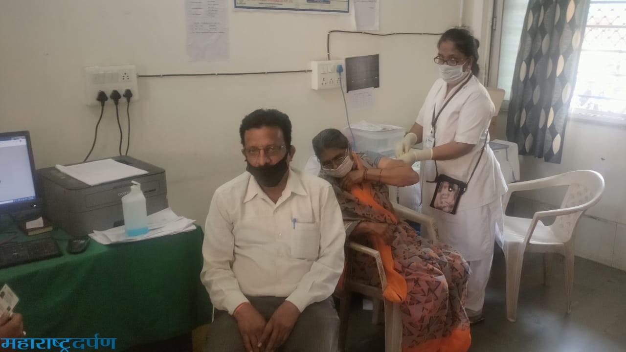 कन्हान, साटक ला ८५ जेष्ठ नागरिकांनी कोरोना लस चा लाभ