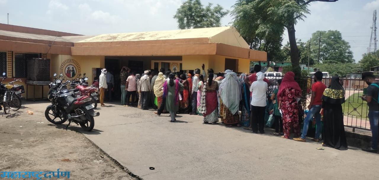 कन्हानपरिसरात १०७६ नागरिकांचे लसीकरण